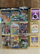 371 Vintage Pokemon Card With Opened 18 Packs Art Collection First Edition, Holo
