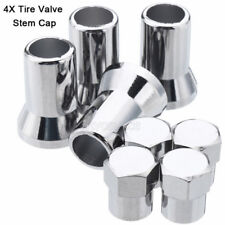 4X Chrome Wheel Tyre Tire Air Valve Cap Stem Cover for Universal Car Truck Motor
