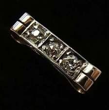 STYLISH ANTIQUE ART DECO ERA PLATINUM, 18CT GOLD & DIAMOND TRILOGY RING