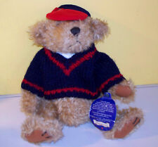 "Pickford Bears Brass Button Collection 10""  ""TULLY"" Plush Stuffed Animal Bear"