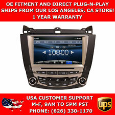 In Dash Navigation Navi GPS Radio OE Fitment Plug & Play Radio for Accord 03-07