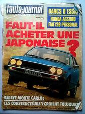 L'AUTO-JOURNAL n°03 du 02/1977  Rallye Monte Carlo / Essai Honda Accord / Fiat 1