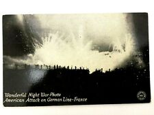 Antique WW1 Rare Postcard - American Attack on German Line - Historical Artifact