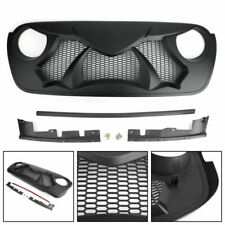 Black Front Bumper ABS Grille Replacement For  Wrangler JL 2018-2019 AT2