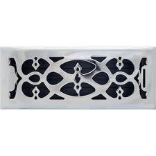 Chrome Victorian Metal Floor Vent Register 100x300mm Ducted Heating AMFRCHV412B