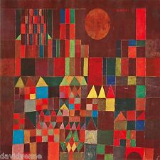 Burg und Sonne by Paul Klee 12 x 12 inch on Zweigart Needlepoint Canvas