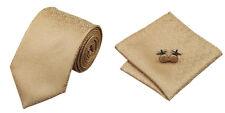 Goldenrod Novelty 100% Silk Classic Mens Necktie Tie Hanky Cufflink Set NT115