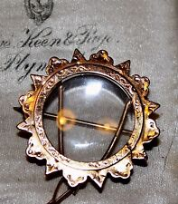 Antique Victorian 9 ct gold picture locket frame brooch