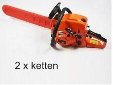 Benzin Kettensäge 52cc inklusiv 2 Ketten Motorkettensäge Kettensägen 52 ccm