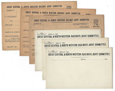Great Central & North Western Joint Railway - 6x Unused Postcards 1930s&40s