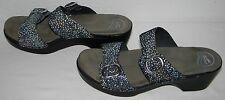 Dansko Womens Sophie Black Shagreen Leather Buckle Slide Sandals 41 US 10.5 11