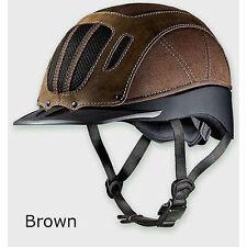 04-369 Troxel Sierra Western Riding Helmet Brown NEW