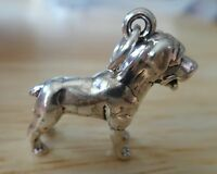 Sterling Silver 3D 5 gram 18x21mm Solid Rottweiler Dog Charm