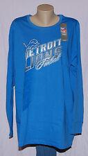 Detroit Lions Womens Jazzed Up Long Sleeve Shirt Plus Size 1X - NFL