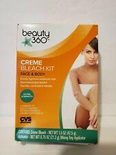 Beauty 360 Creme Extra Strength Bleach Kit Extra Strength Face & Body 1.5 Oz Ea