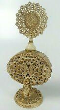 Vintage Perfume Bottle Ormolu Filagree
