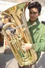 TUBA BIG IN  EB PITCH  OF PURE BRASS IN BRASS POLISH + HARD CASE +FREE SHIPPING