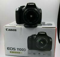 macchina fotografica Fotocamera Canon EOS 1100d reflex digitale + scatola origin