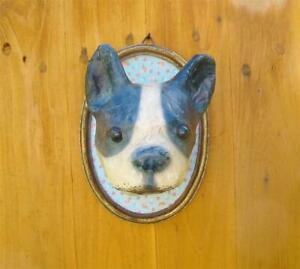 Cody Foster French Bulldog Paper Mache Dog Show Plaque Cool! New
