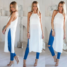 Womens Boho Long Maxi Skirt Summer Holiday Casual Beach Dresses Sundress Blouse
