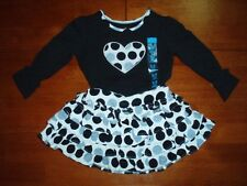 Infant Girl's Heart Print Top and Skirt Set  Size 6-9 Months  NWT!