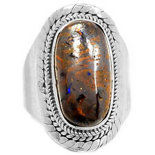 Boulder Opal 925 Sterling Silver Ring Jewelry s.6.5 BDOR477
