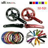 32-52T CNC Crankset 170 Crank BCD104 Narrow Wide Single Speed MTB Bike Chainring