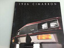 1986 Cadillac Cimarron Large Deluxe Sales Brochure
