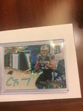 CHRISTIAN MCCAFFREY 2017 SPECTRA 63/75 AUTO ROOKIE PATCH RPA #211  PANTHERS