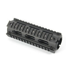 Quad Rail Handguard 6.7 Inch  Length 2 Piece Drop-In Picatinny Mounting Rail