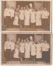 2 x Foto Restaurant Hotel Angestellte Köche Kellner Belegschaft Dresden um 1930