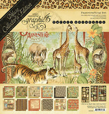 "Graphic 45 Safari Adventure Deluxe Collectors Edition 12 x 12"" Paper pack NEW"