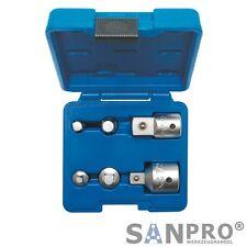 6 tlg. Vierkant Nuss Adaptersatz - 6,3 mm - 10 mm - 12, 5 mm - 20 mm