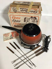 Vintage Oster Electric Fondue Pot w/Controlled Heat - Model 681 - with box