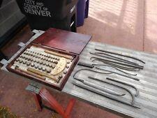 Vintage Erick Brand ?  Dent Ball Set Tools Rods Lot Musical Instrument Repair