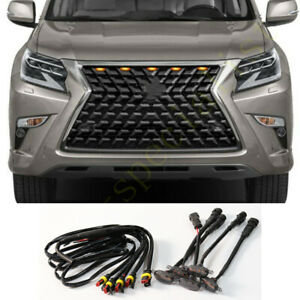 Fit For Lexus GX460 2020-2021 Grille LED Amber Light Raptor Style Grill Cover 5P
