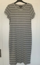 Ladies Primark Grey Stripe Dress Size 16