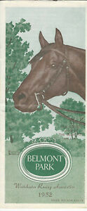 1952 Belmont NY Handicap horse racing program BATTLEFIELD 2YO Champ-Won Travers+