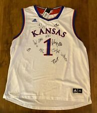 2019 - 2020 KANSAS JAYHAWKS TEAM AUTOGRAPH JERSEY SIGNED KU BILL SELF COA