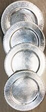 """4 Charger Plates Hammered Aluminum 13"""" Dining Room Table Elegant Wedding Setting"""