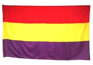 BANDERA REPUBLICA ESPAÑOLA REPUBLICANA EJERCITO POPULAR GRANDE 150 Cm X 90 Cm