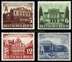 EBS Germany 1941 - Leipzig Spring Fair - Leipziger Messe - Michel 764-767 MNG(*)