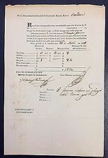 Argentina 1836 Buenos Aires to Cordoba Postal Manifest with Details Signed
