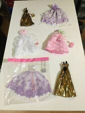 Job Lot Sindy Doll Ball Dresses x 6 plus Handbags x 6 - Vintage 2002 Rare