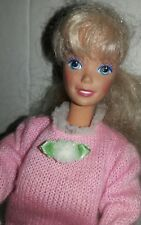 Barbie With Blonde Pony Tail and Pink Knit Skirt Set