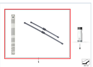 Genuine BMW Wiper Blades G30/G31 5 Series PN: 61612447934 NEW UK