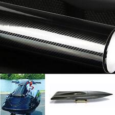"""24""""x60"""" Boat 5D Carbon Fiber Sticker Gloss tech art carbon fiber Wrap Sticker"""