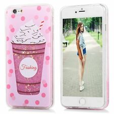 Lovely Cute Bling Dynamic Liquid Glitter Soft Case Cover for iPhone X/8/6/7 Plus