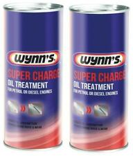 2x Wynns Super Charge Oil Treatment Additive 425ml For Petrol & Diesel Engine