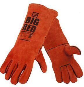 BIG RED Welding Gloves BIG RED Leather Gloves  Medium